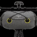 Apidura's bikepacking bag the Backcountry Handlebar Pack 20L Straight On Bike