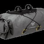 Apidura's bikepacking bag the Backcountry Handlebar Pack 20L PerspectiveAlone