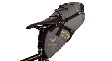 Apidura's bikepacking bag the Backcountry Saddle Pack 17L PIL PerspectiveOnBike