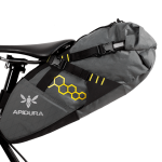 Apidura's bikepacking bag the Backcountry Saddle Pack 11L Straight On Bike