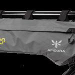 Apidura's bikepacking bag the Backcountry Frame Pack 6L Perspective On Bike