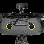 Apidura's bikepacking bag the Backcountry Handlebar Pack 9L Straight On Bike