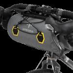 Apidura's bikepacking bag the Backcountry Handlebar Pack 9L Perspective On Bike