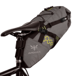 Apidura's bikepacking bag the Backcountry Saddle Pack 14L Perspective On Bike
