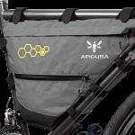 Apidura's bikepacking bag the Backcountry Full Frame Pack 7.5L Perspective On Bike