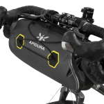 Apidura's bikepacking bag the Expedition Handlebar Pack 9L Perspective On Bike