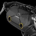 Apidura's bikepacking bag the Expedition Handlebar Pack 14L Perspective On Bike