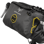 Apidura's bikepacking bag the Expedition Accessory Pocket 4.5L Perspective On Bike
