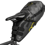 Apidura's bikepacking bag the Expedition Saddle Pack 17L Perspective On Bike