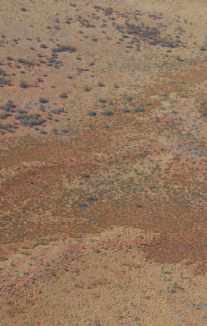 The inhospitable Outback from above   Apidura