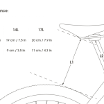 Apidura's bikepacking bag the Backcountry Saddle Pack Measurement Specifications