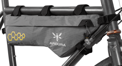 Apidura's bikepacking bag the Backcountry Compact Frame Pack Profile Shot