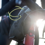 Apidura's bikepacking bag the Backcountry Food Pouch Plus Lifestyle Shot 1