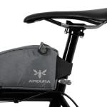 Apidura's bikepacking bag the Backcountry Top Tube Pack 1.2L Profile Shot