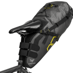 Apidura's bikepacking bag the Expedition Saddle Pack 17L PIL Perspective On Bike