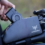 Apidura's Bikepacking Expedition Top Tube Pack: Waterproof, Lightweight and Durable, lifestyle shot