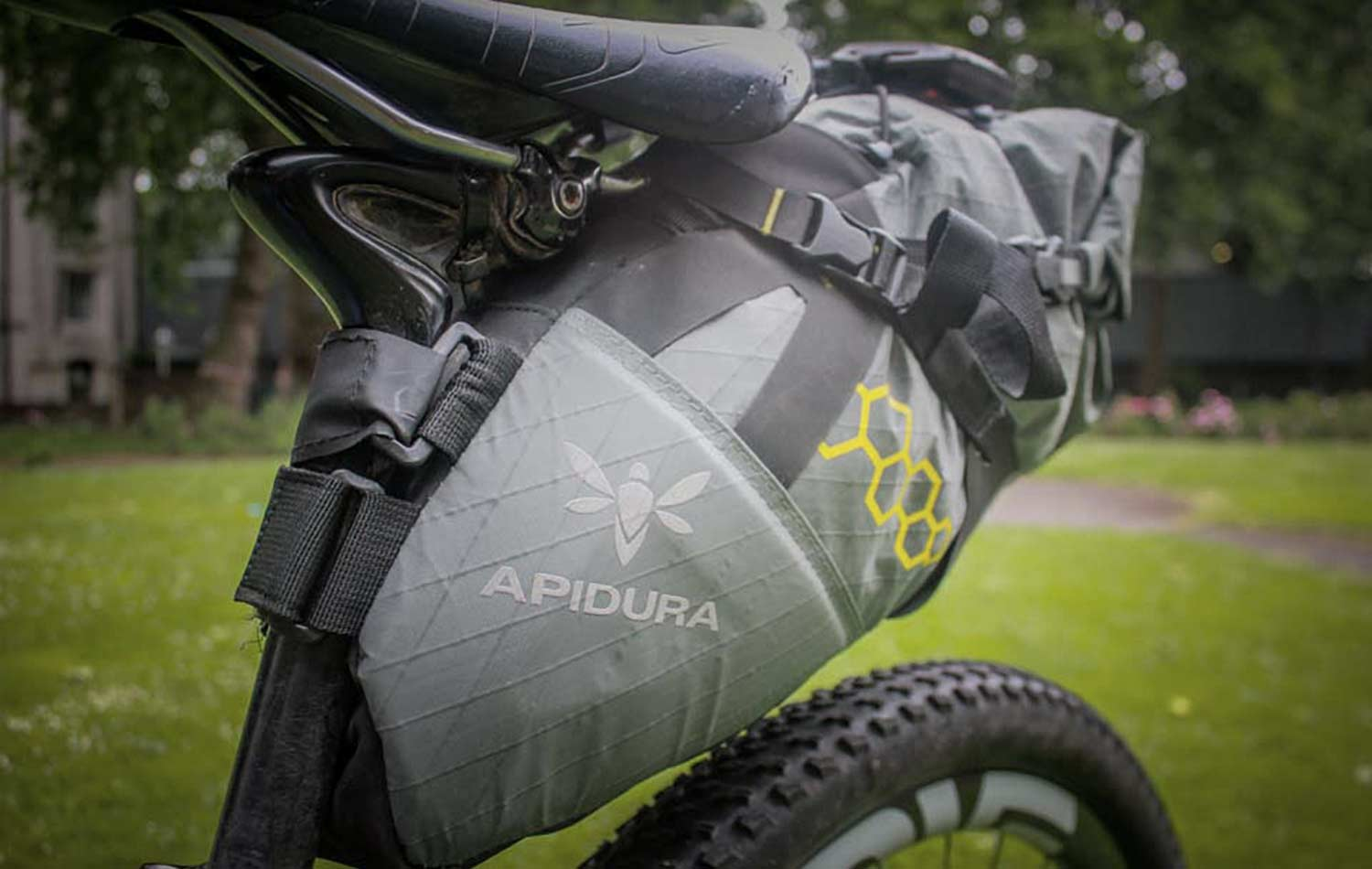 apidura backcountry saddle pack on lee craigie bike for tour divide