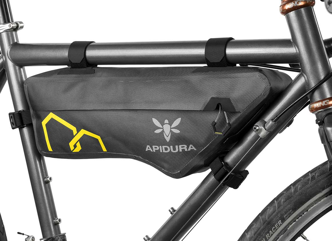 apidura bikepacking bag expedition compact frame pack waterproof small size