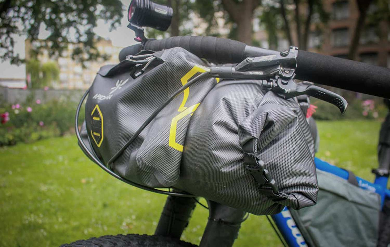 apidura expedition handlebar pack for the great divide route