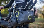 apidura expedition handlebar pack with an accessory pocket for a first bikepacking trip