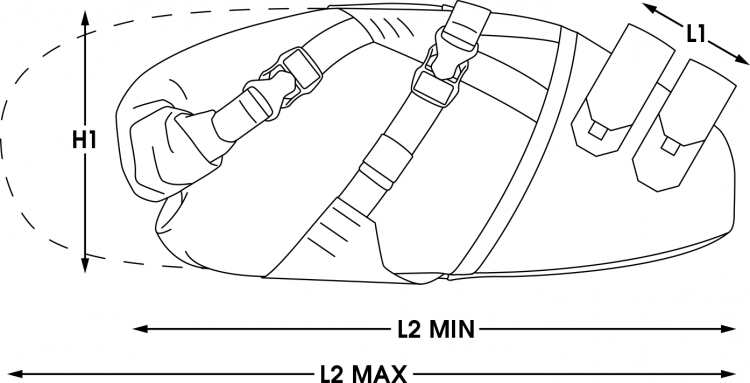 apidura bikepacking bag backcountry saddle pack measures