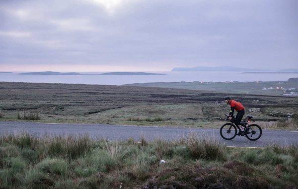 bjorn lenhard on his bike preparing the transatlantic way race