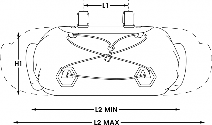 apidura bikepacking bag expedition handle bar pack waterproof measures