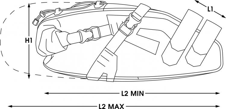 apidura bikepacking bag expedition saddle pack waterproof measures 14L