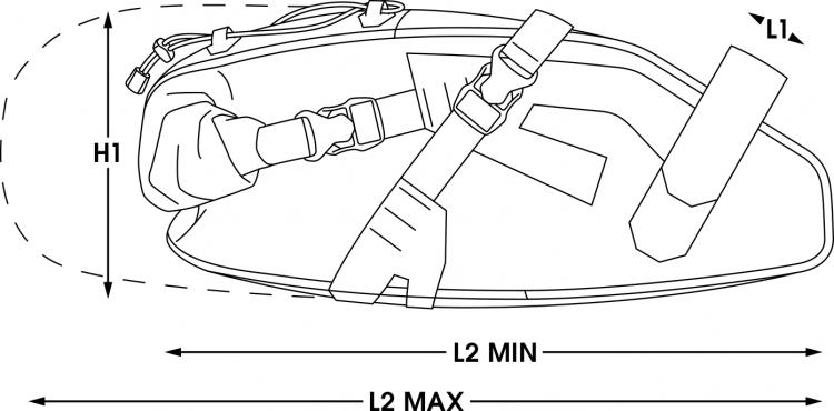 apidura bikepacking bag expedition saddle pack waterproof measures 9L