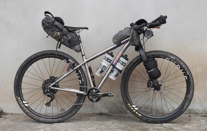 sarah hammond curve bike for bikepacking