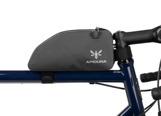 apidura bikepacking bag, the waterproof expedition top tube bag