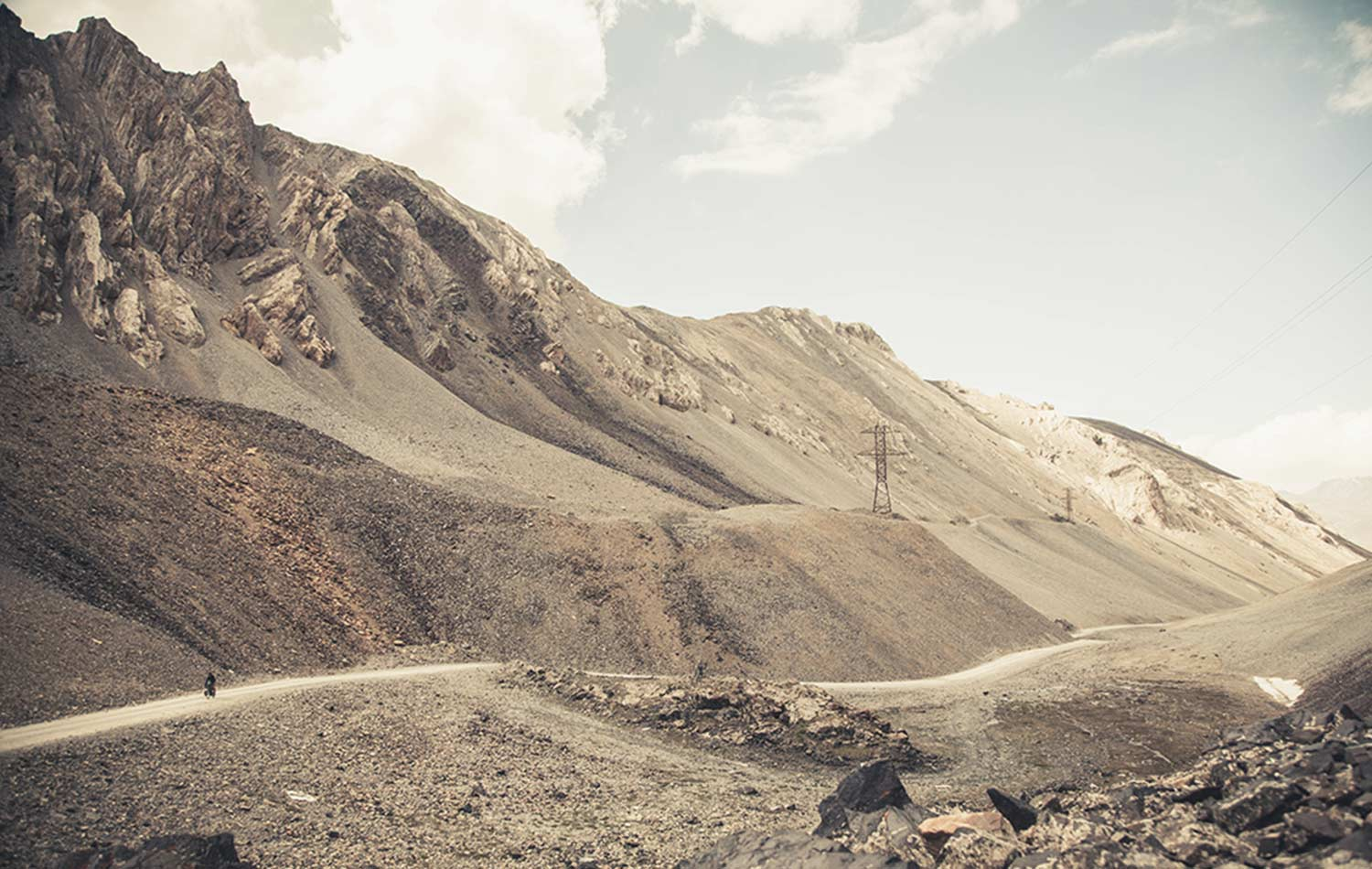 Kyrgyzstan Landscape. Apidura Ambassador's Marc Maurer on his journey Bikepacking in Kyrgyzstan.