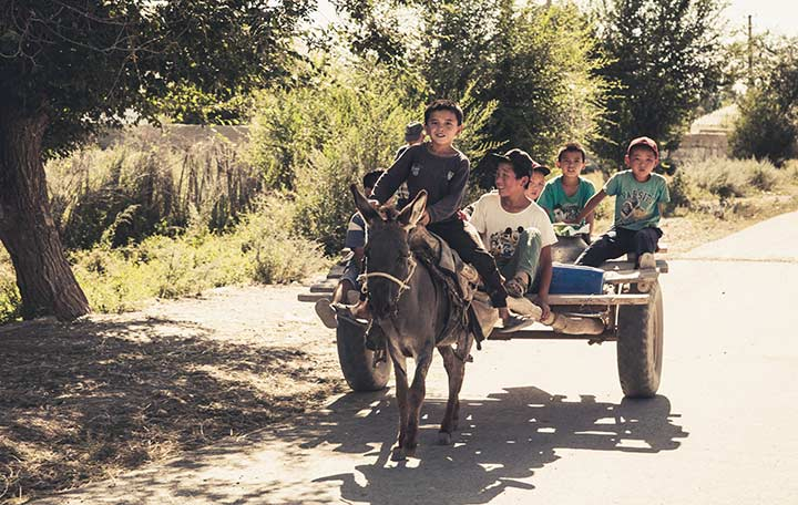 Visiting Kyrgyzstan - Kids - Apidura - Bikepacking
