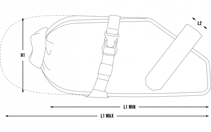 Apidura Racing Saddle Bag Pack Dimensions size