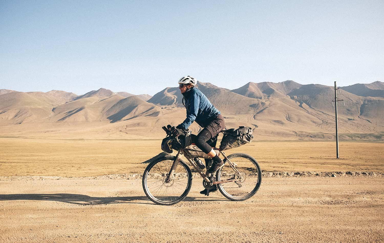 Jenny Tough bikepacking in Kyrgyzstan | Apidura