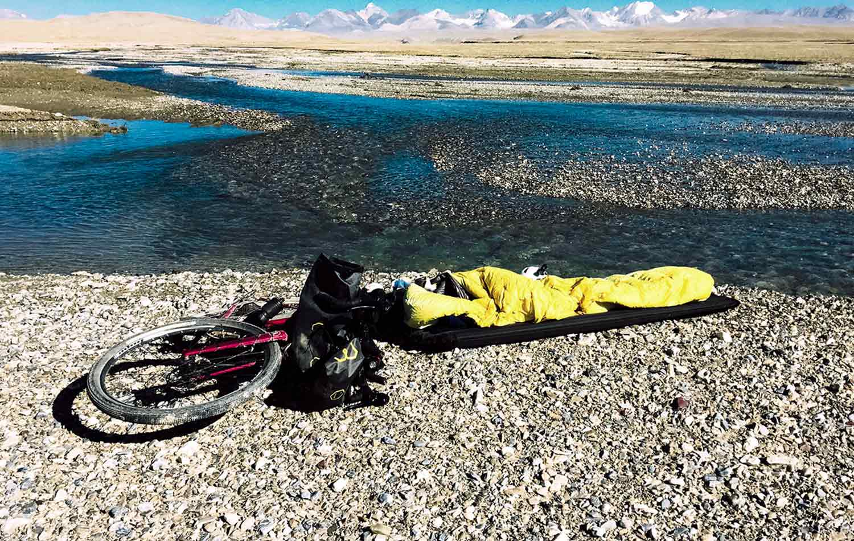 Jenny Tough campsite in Kyrgyzstan. Bikepacking | Apidura