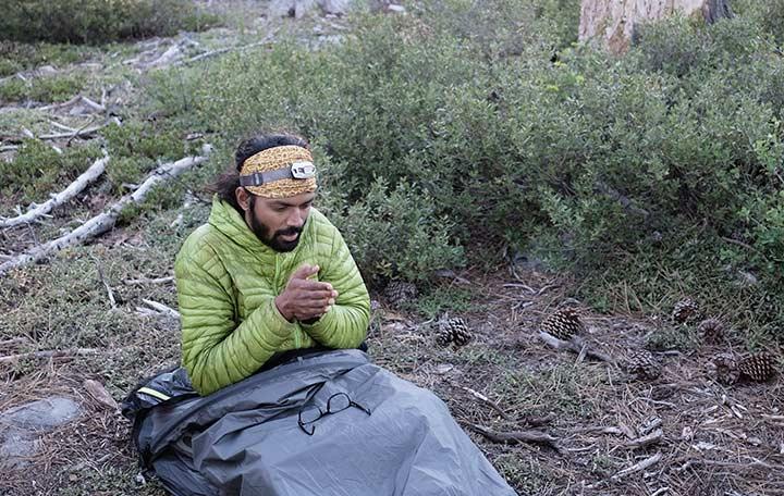 Bivi campsite with Naresh Kumar. Bikepacking Adventures | Apidura