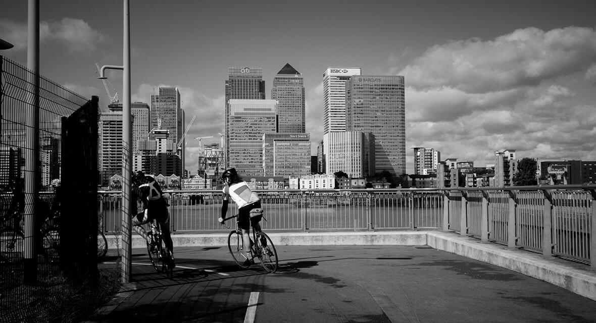 Cycling Canary Wharf
