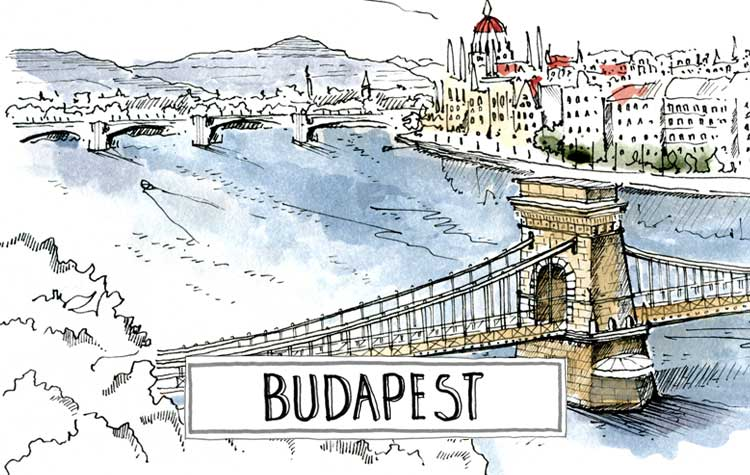 A paint of Budapest