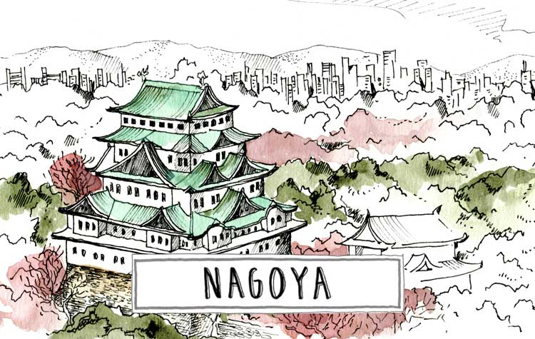 A paint of Nagoya cycle tourist