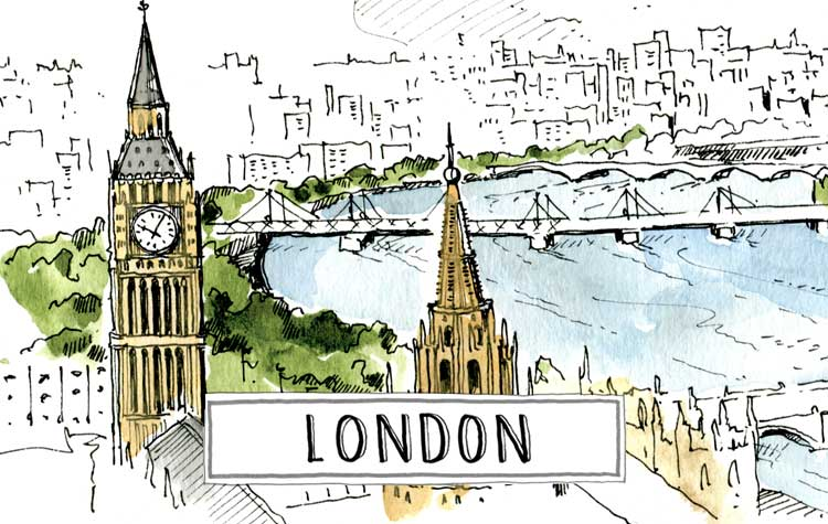 A paint of London