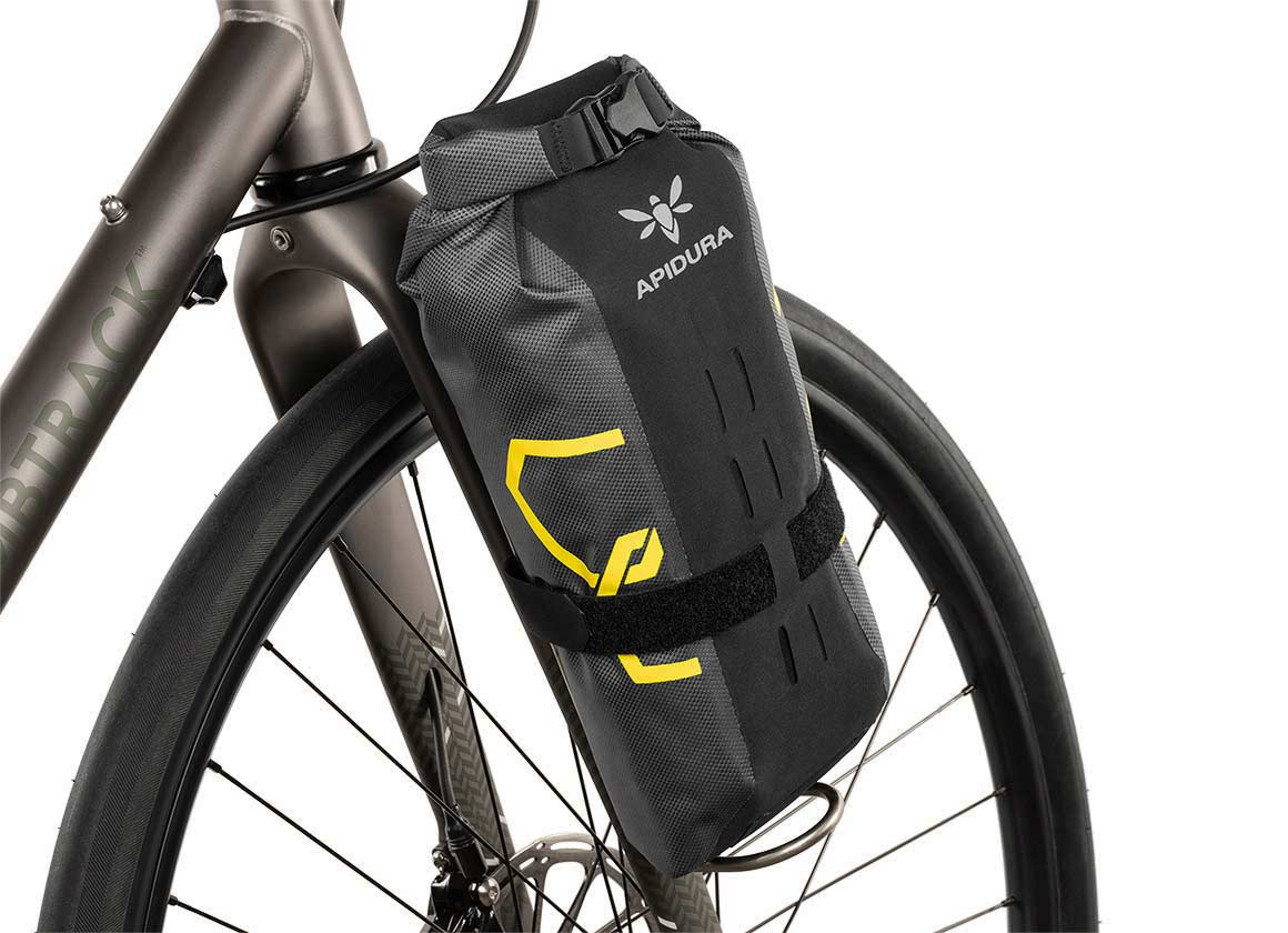 Apidura expedition waterproof fork bag bikepacking on fork