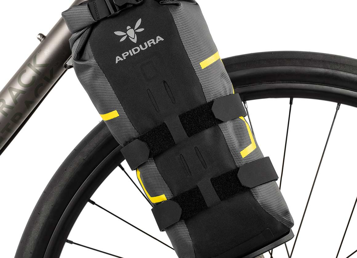 Apidura expedition waterproof fork bag bikepacking close up