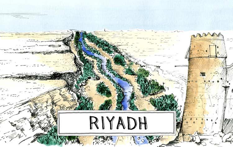 A paint of Riyadh