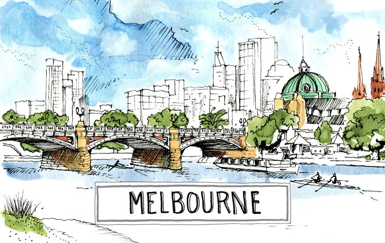 A paint of Melbourne