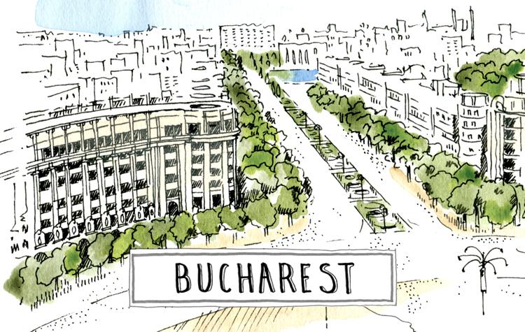 A paint of bucharest