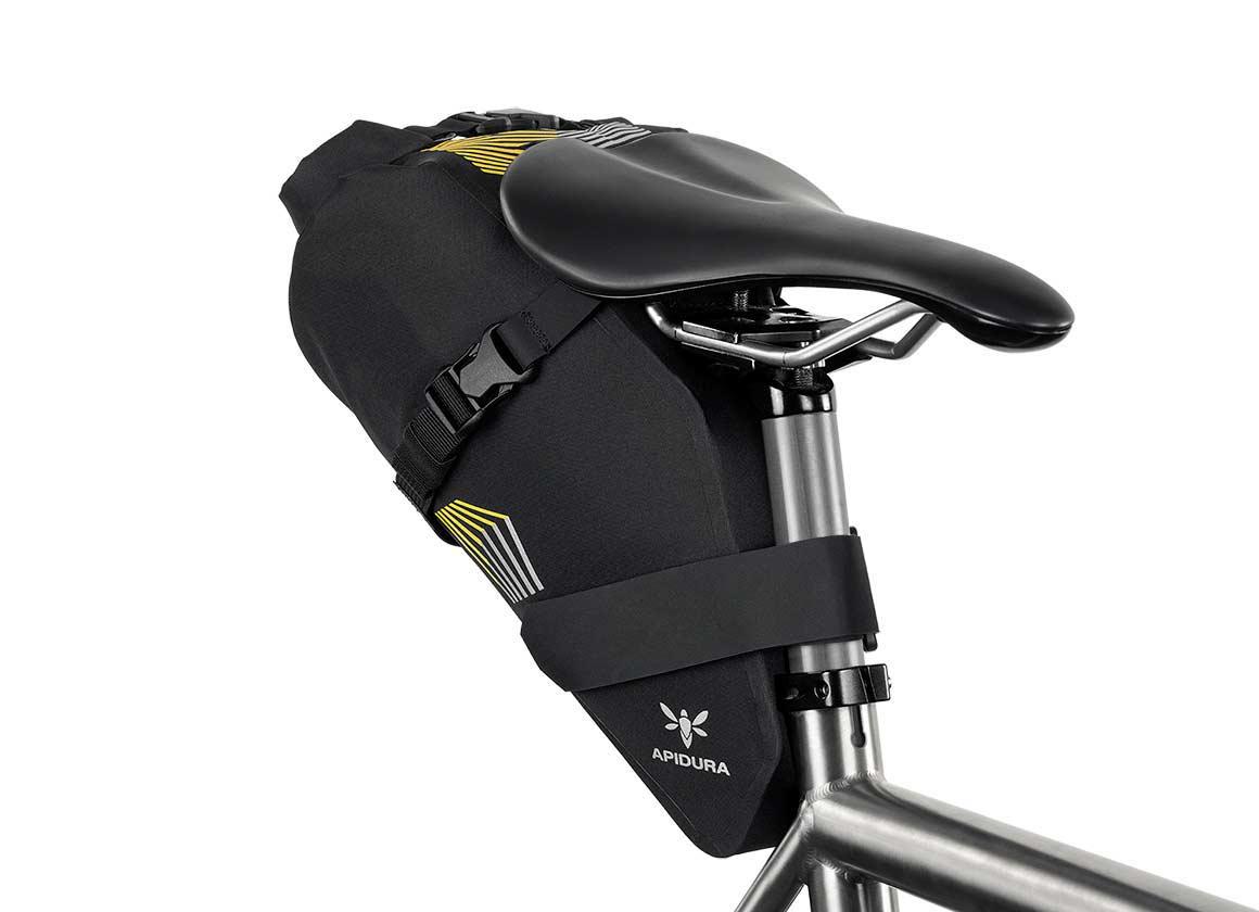Apidura Racing Bikepacking Saddle Bag front view