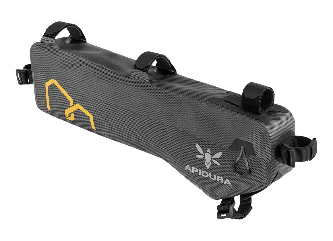 apidura bikepacking bag expedition compact frame pack waterproof tall off bike
