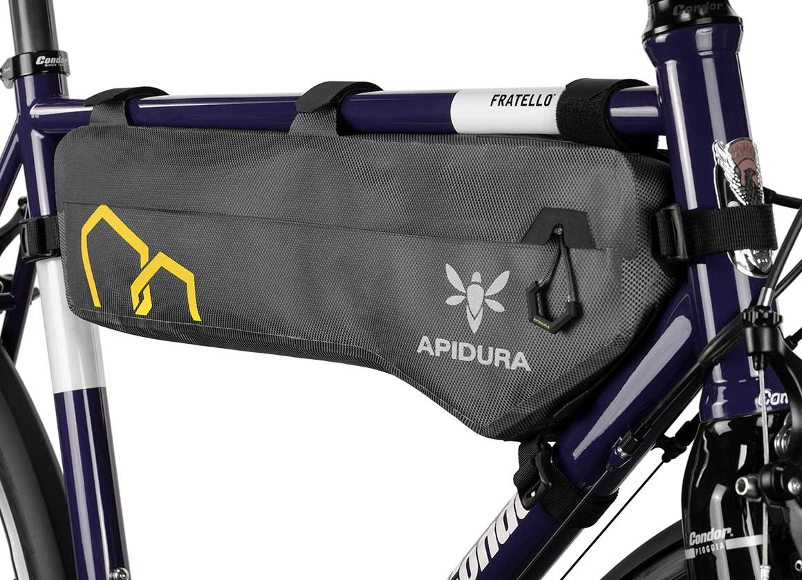 apidura bikepacking tall bag expedition compact frame pack waterproof
