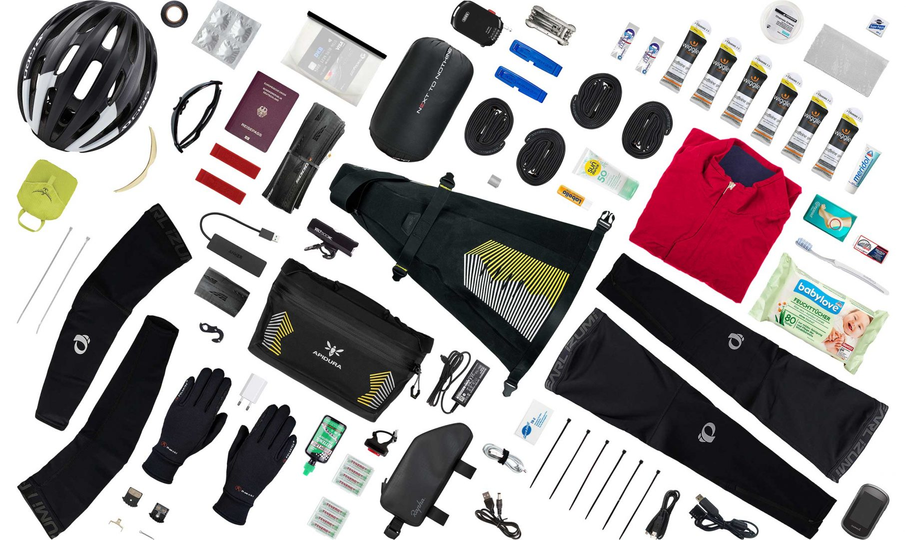 Full bikepacking kit Grid used by Fiona Kolbinger's on TCR7, this includes the saddle and handlebar bag